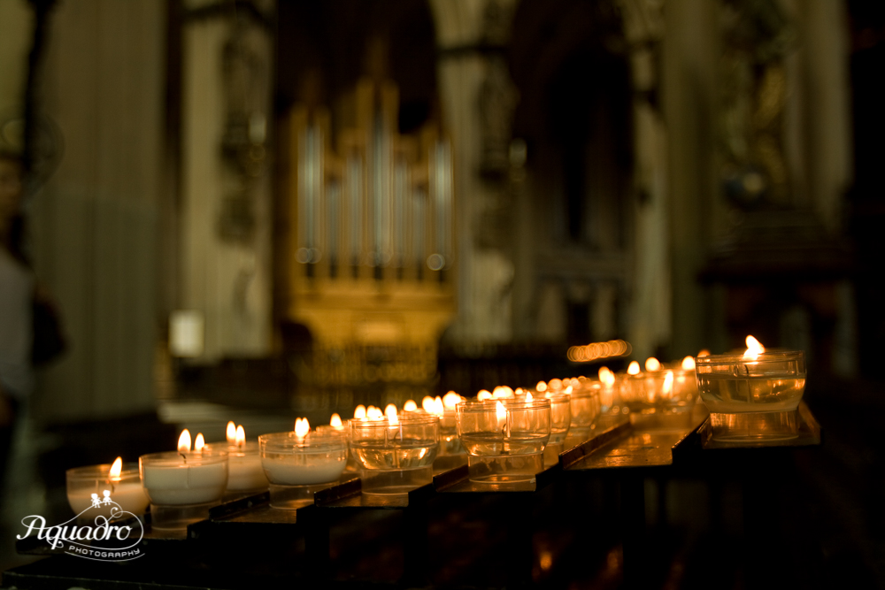 Belgium Cathedral Candles