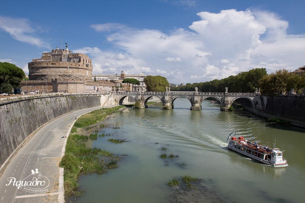 Boat Cruising the Tiber