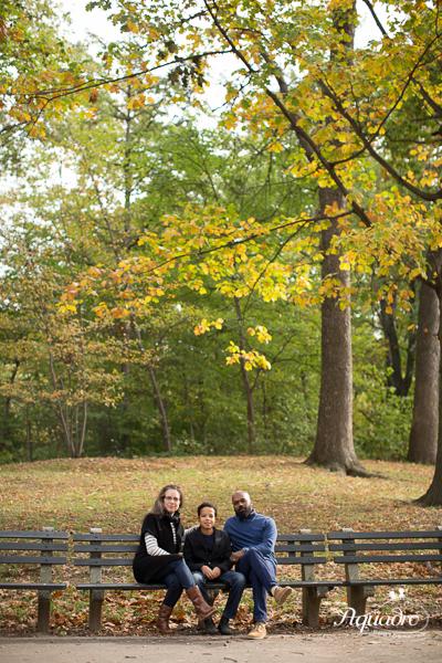Park Bench Family Photo