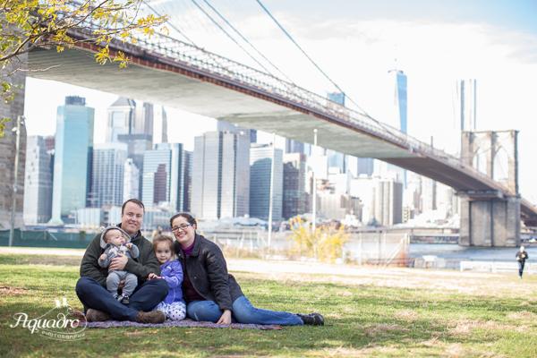 Family Photo by Brooklyn Bridge