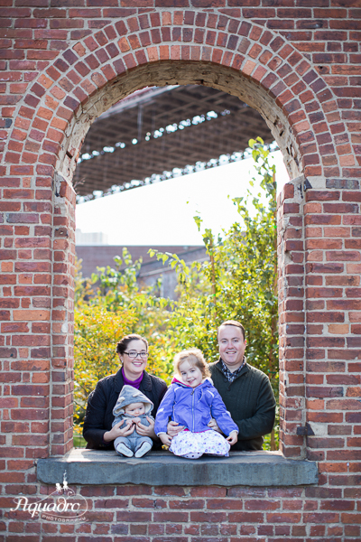 Family of Four in Window