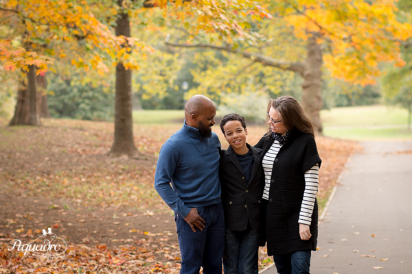 Family of Three in Prospect Park