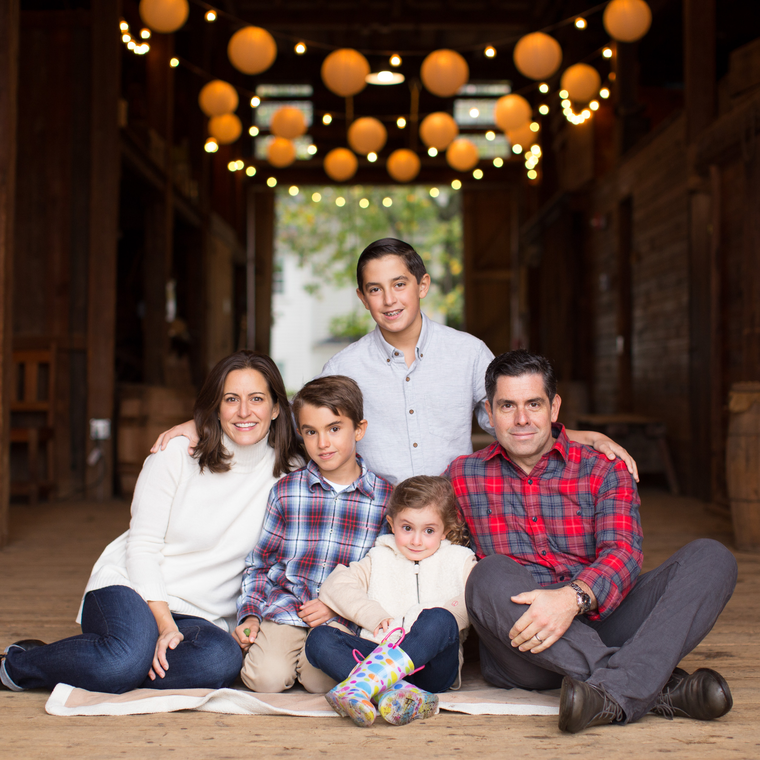 Family Photo in Barn