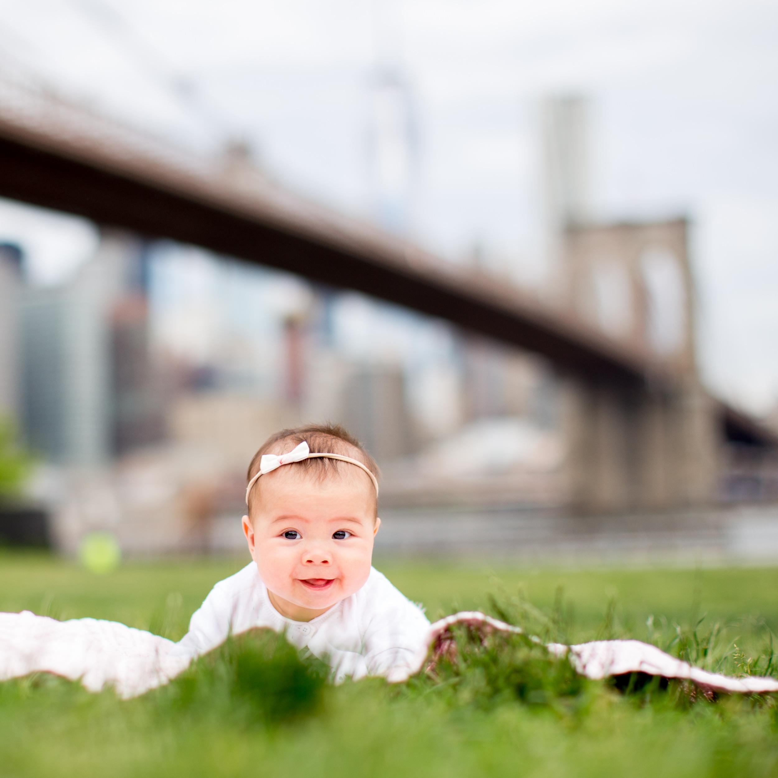 Tummy Time Baby by Brooklyn Bridge
