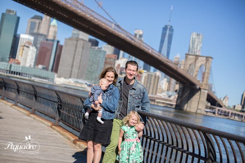 Family of Four Mini Session in Brooklyn Bridge Park