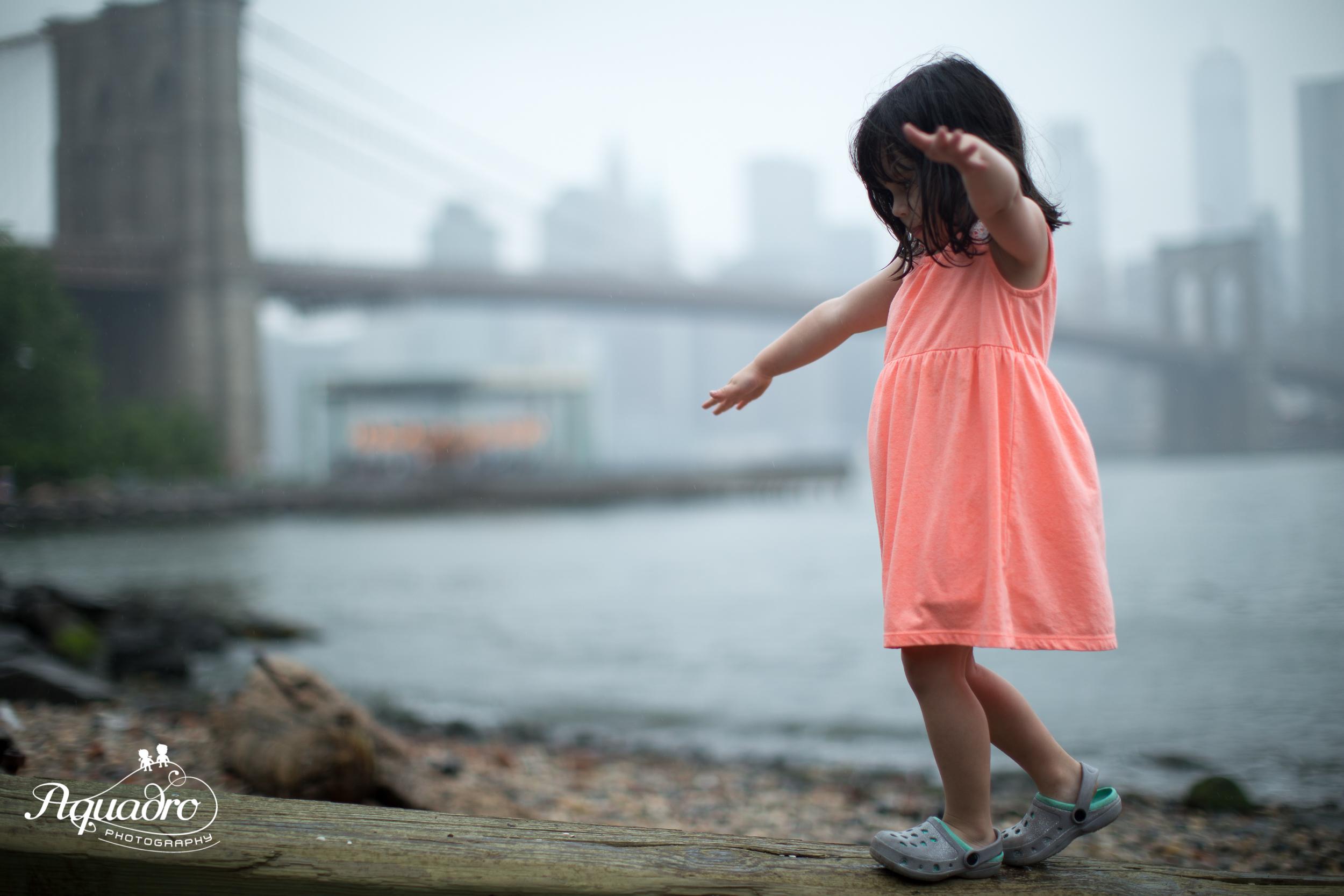 Balance Beam by the Brooklyn Bridge