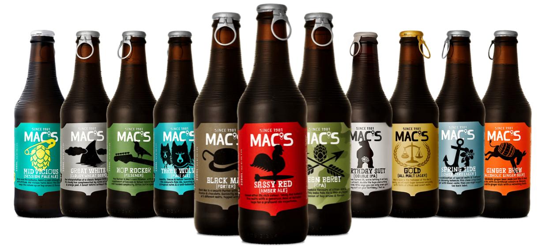 Macs Beer Range