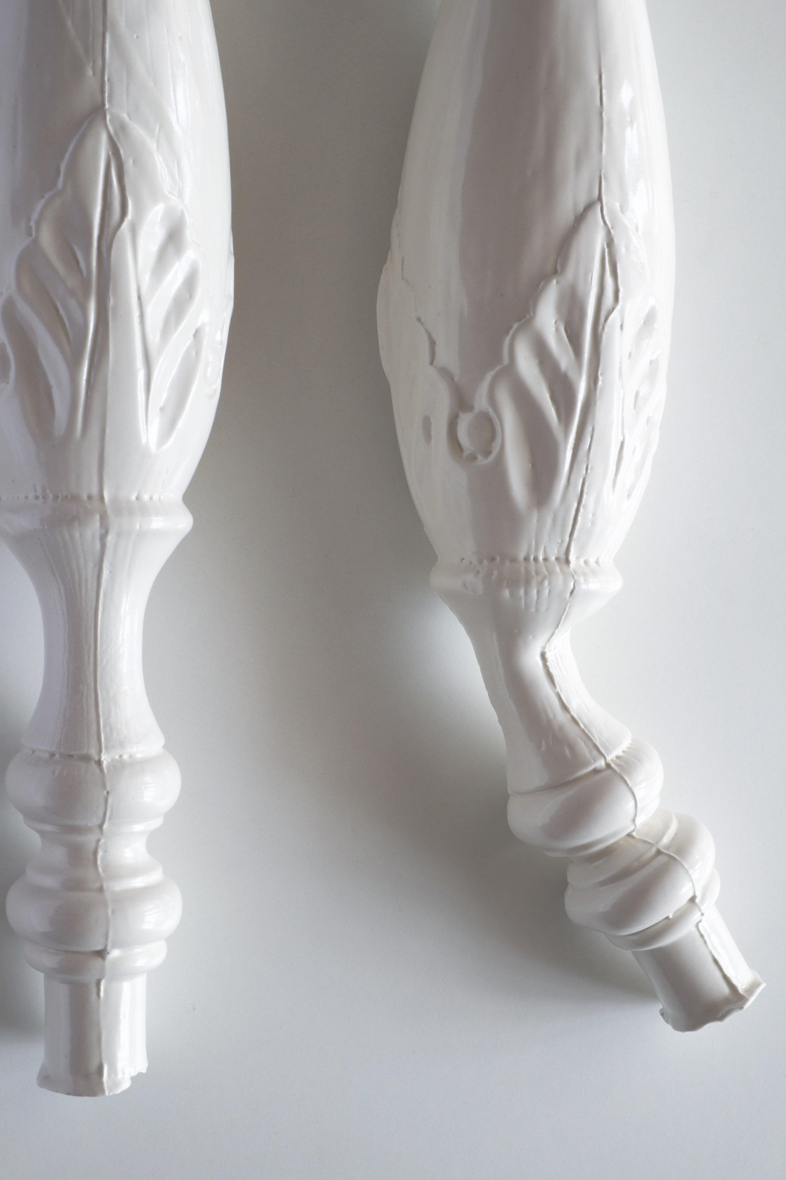 """NEW PAIR (detail) - porcelain / slip-cast / 40"""" x 15"""" x 6.5"""" / 2015"""