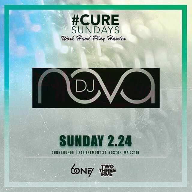 CURE Sundays! Come end your weekend the right way! After your sunday funday hit up @curelounge for some drinks and a good time.  Text  @mauricio771 📲 978-602-5044 for list or tables Groups of industry ladies let us know so we can set you up!
