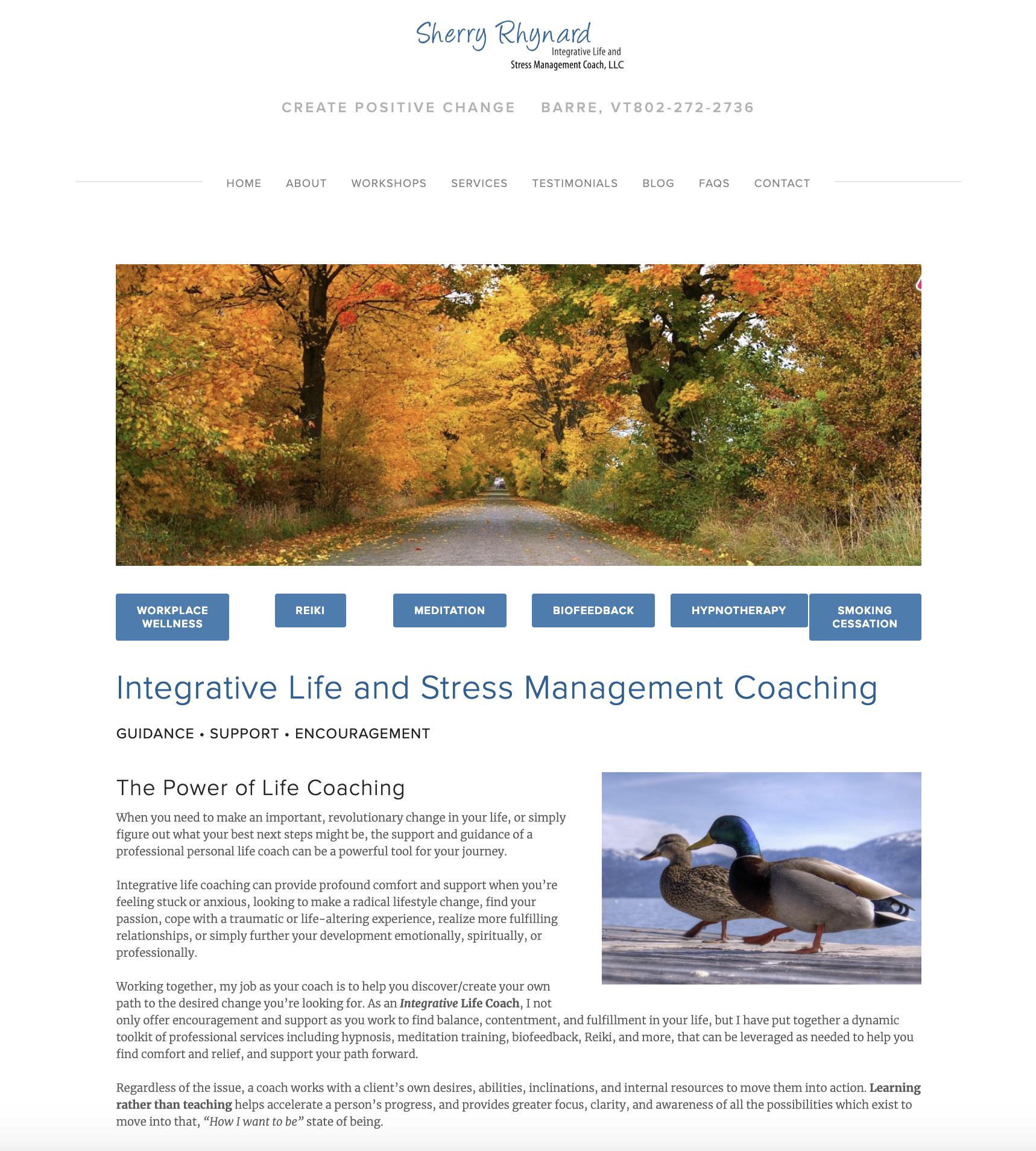 Sherry Rhynard, Integrative Life Coaching and Stress Management