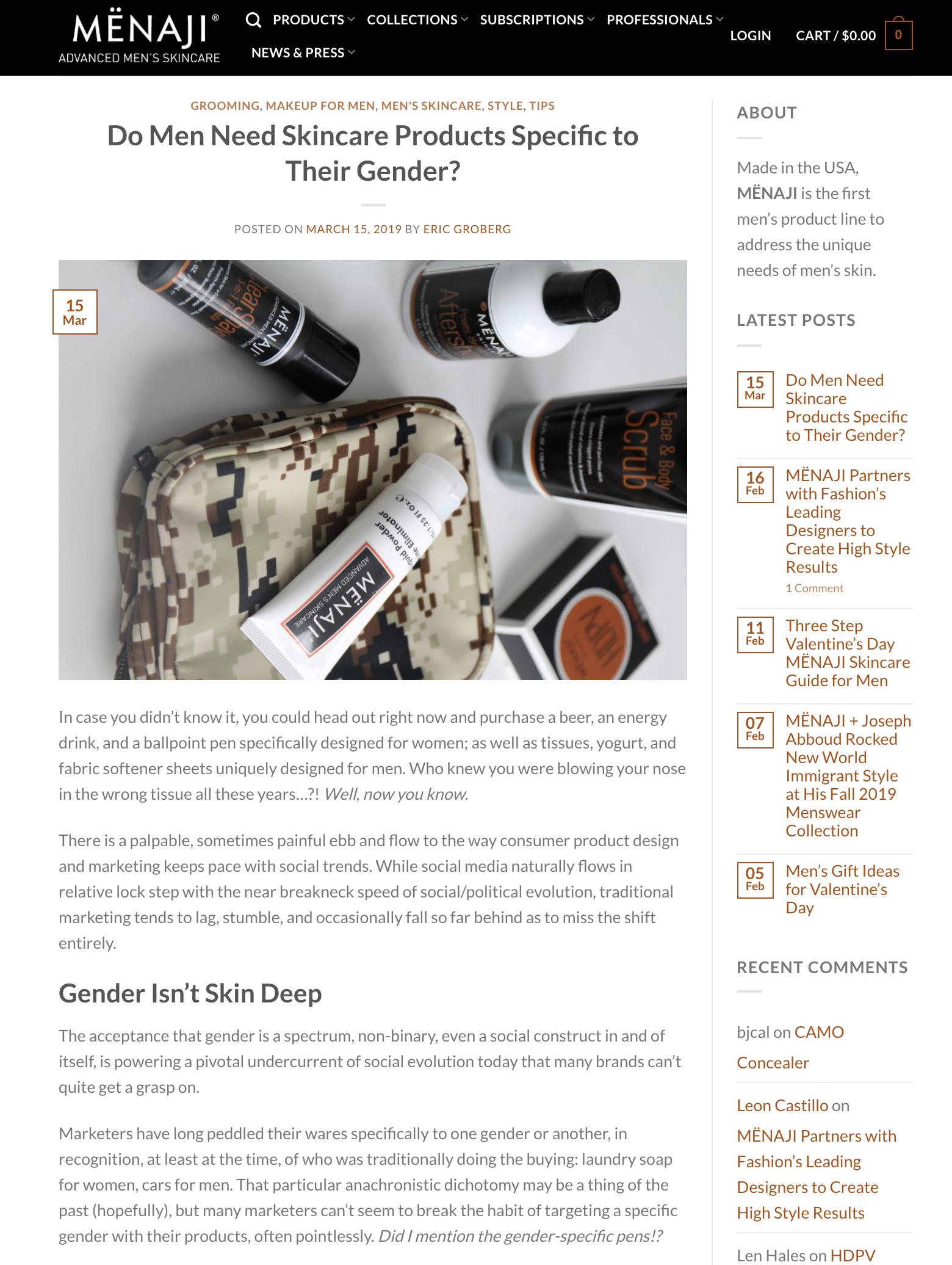 MENAJI: Advanced Men's Skincare