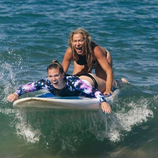 Riding the wave of life with you is the best adventure ever!  More fun than it probably should be, more connection than ever thought possible and always a celebration!  Happiest of birthdays the shiniest soul ever @jocelynsolomonyoga ✨✨✨