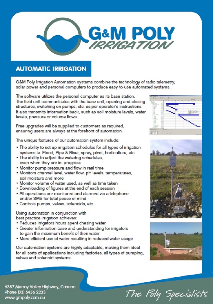 More about G&M Poly's Automated Irrigation System