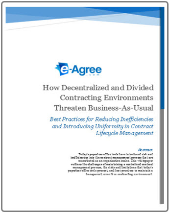 """READ OUR WHITE PAPER  """"How Decentralized and Divided Contracting Environments Threaten Business-as-Usual"""""""