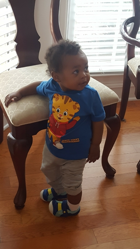 Birthday Boy in Daniel Tiger shirt from Old Navy