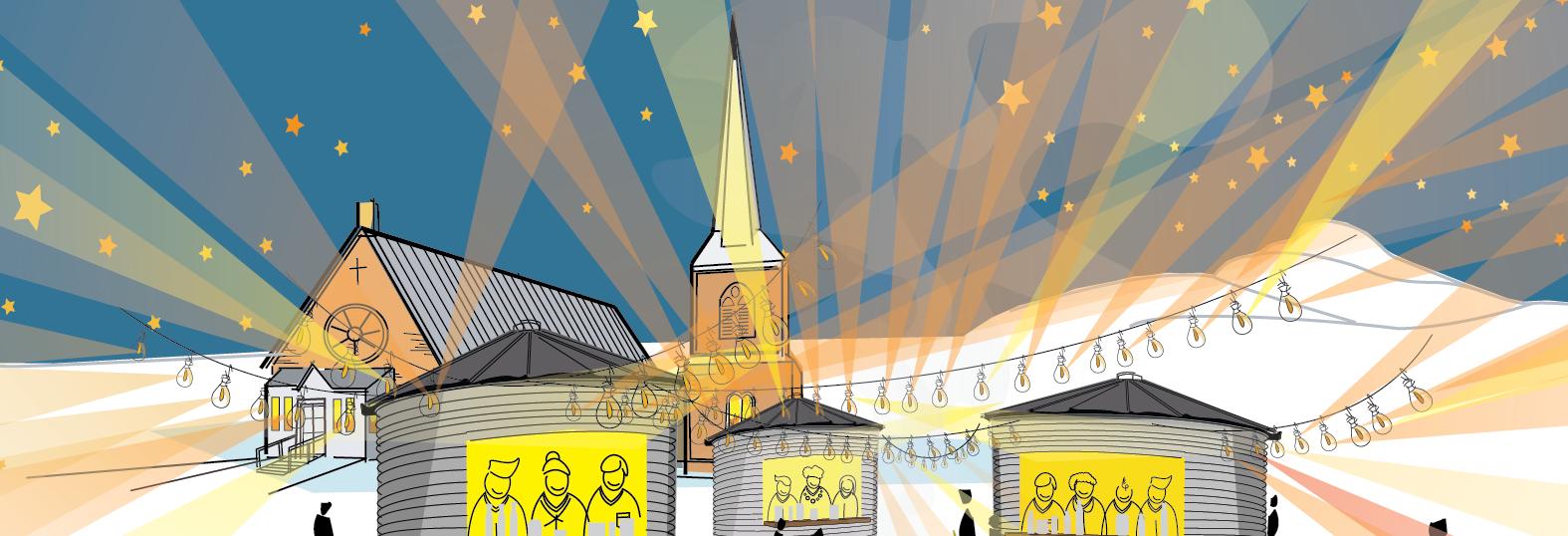 infographie marché de Noël de Frelighsburg ( atelier ARE )
