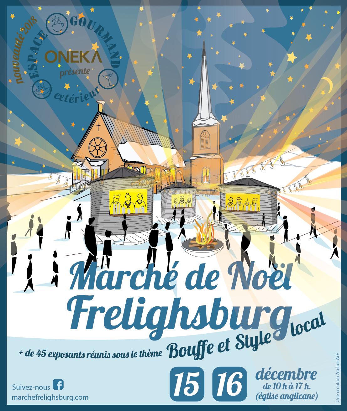 Affiche officielle du marché de Noël de Frelighsburg