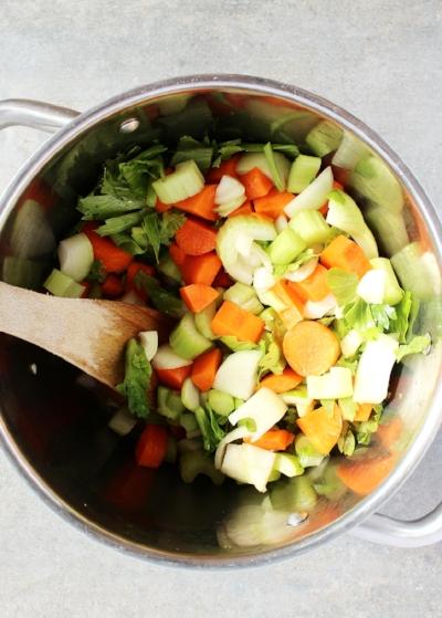 Carrot, celery, onion