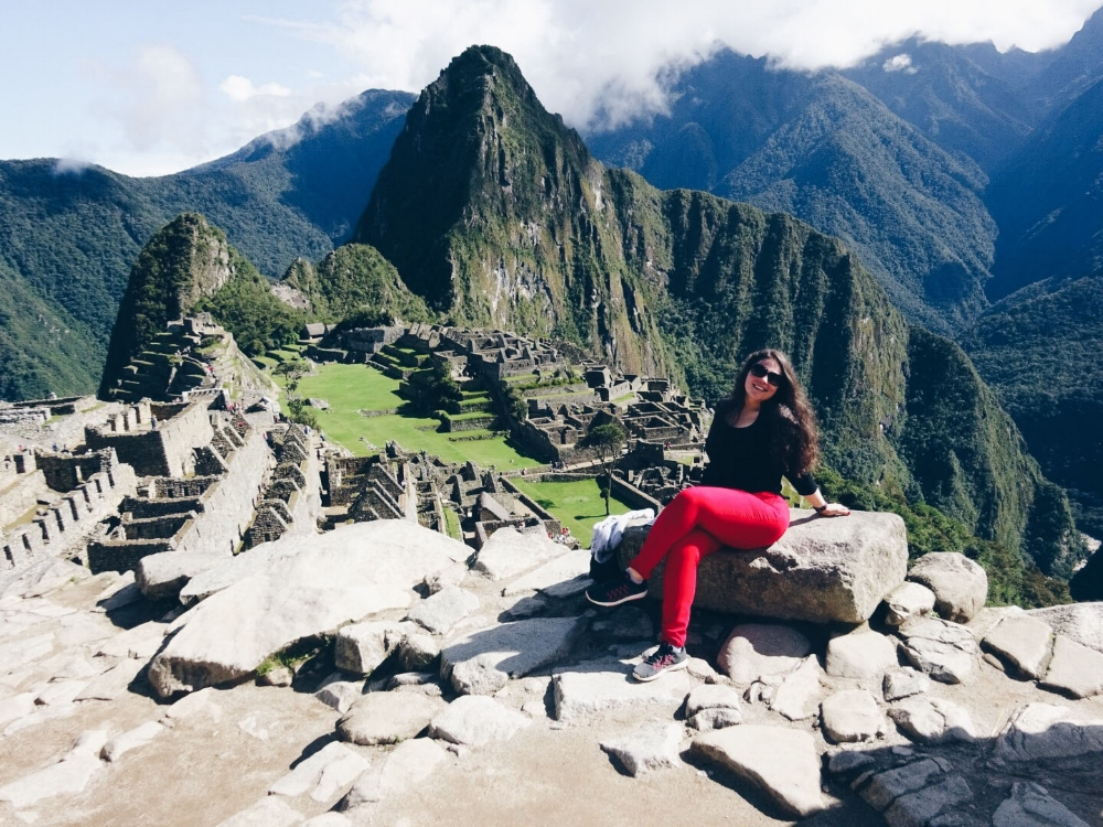 Carolyn in Machu Picchu