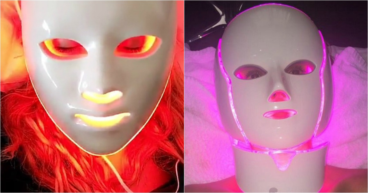 Kate Hudsen and Jessica Alba using light therapy on instagram.