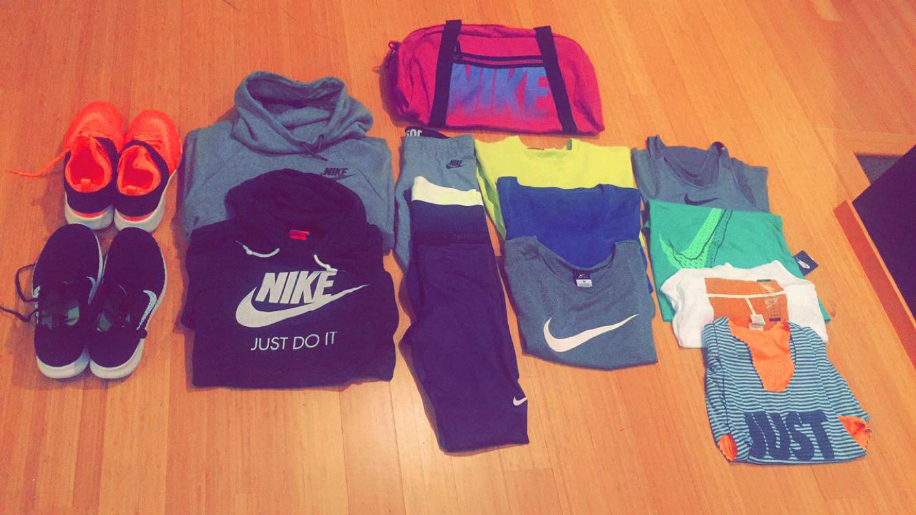 Nike activewear.