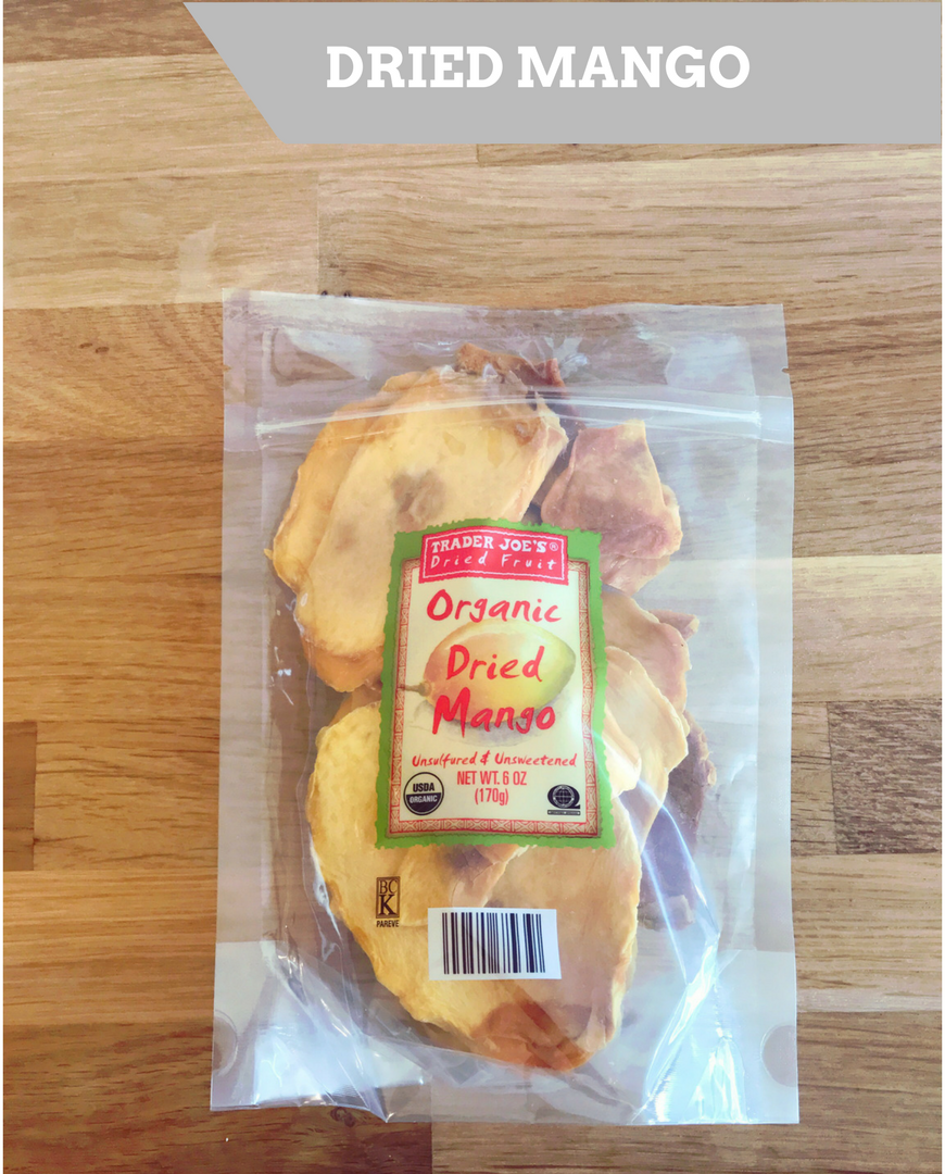 Trader Joe's Organic Dried Mango.
