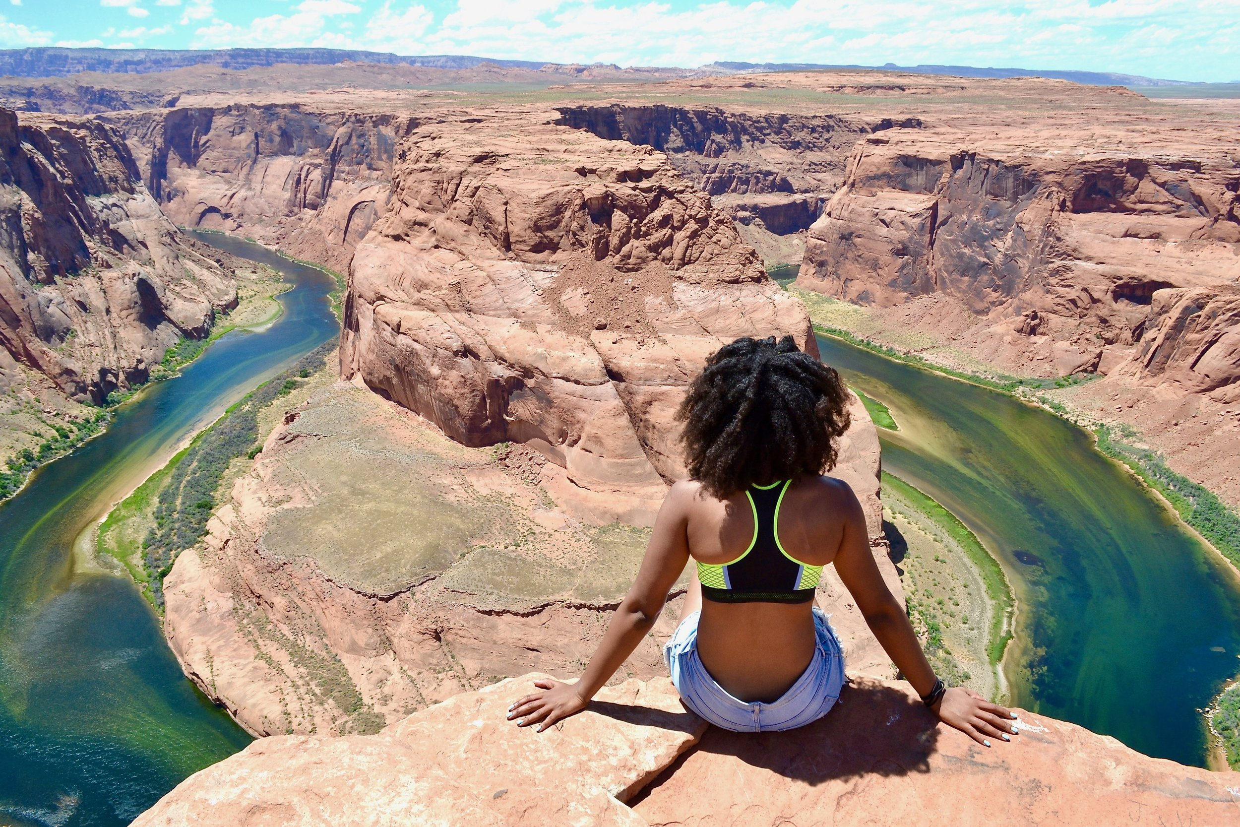 View from Horseshoe Bend in Arizona.