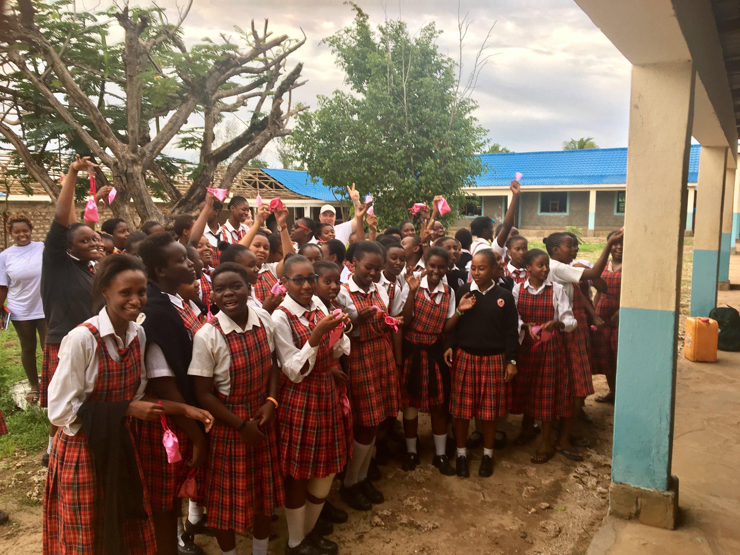 WonderCup donates 107 menstrual cups to Mikaela secondary girl school.