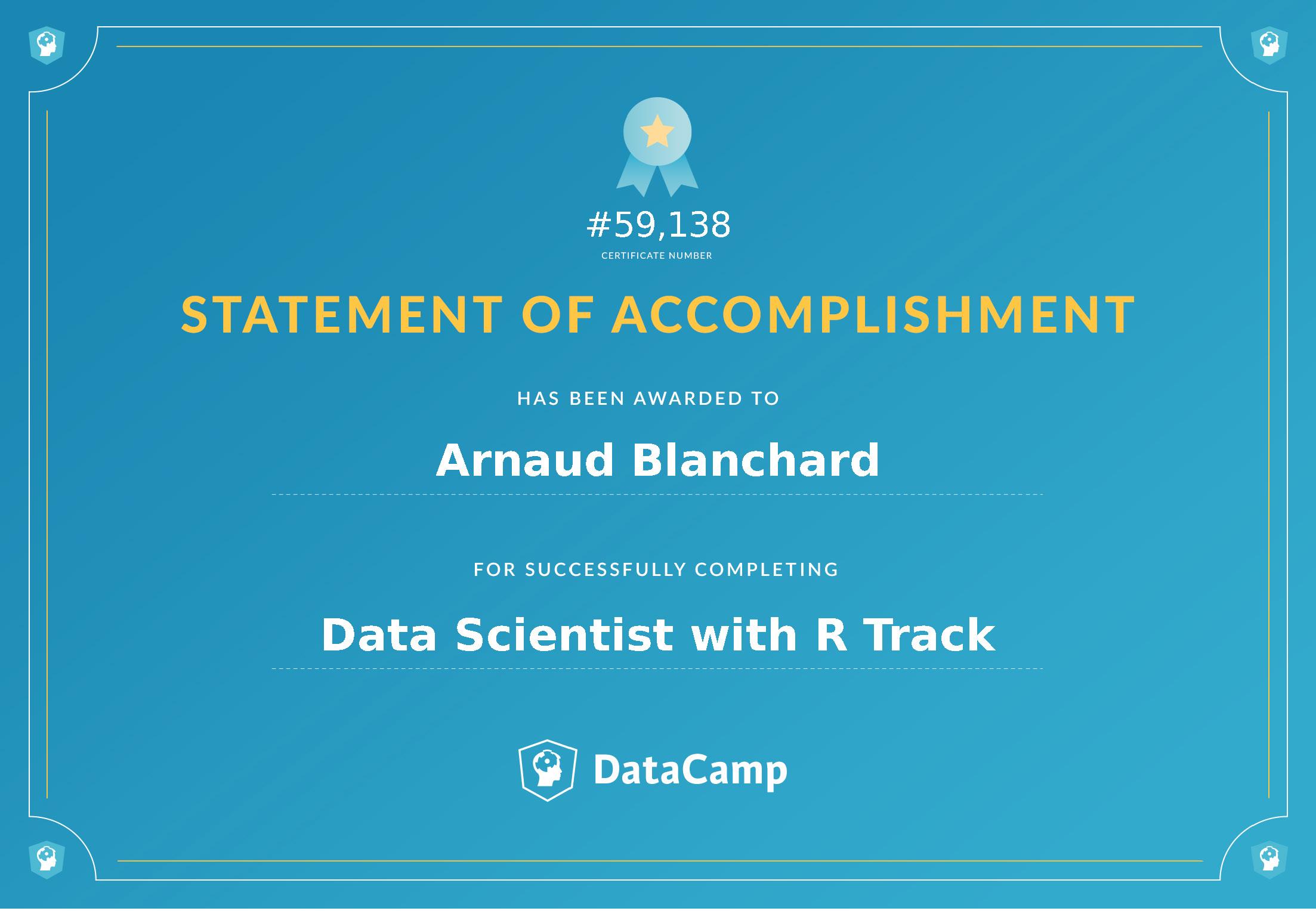 Certificat Data Scientist avec R