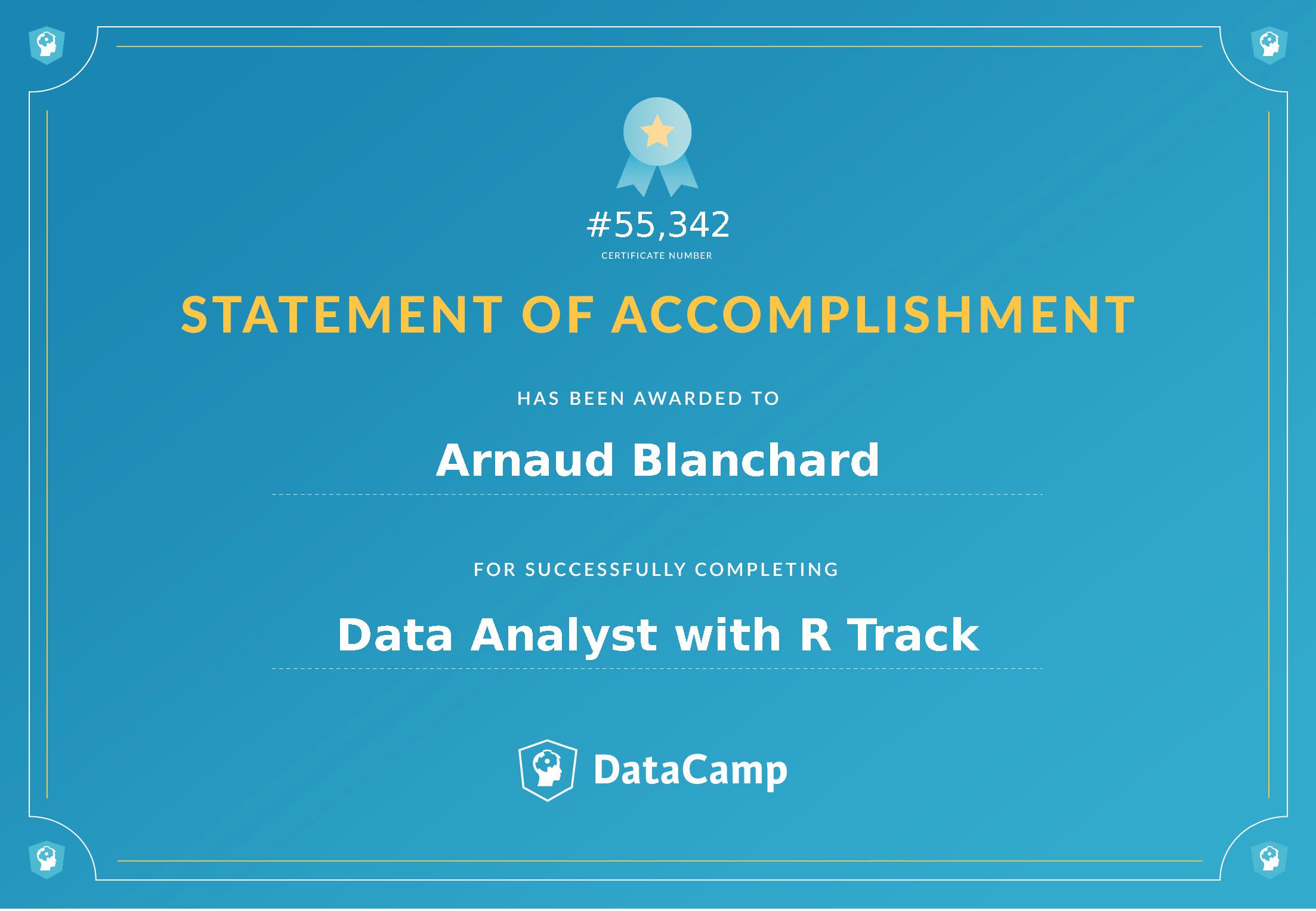 Certificat Data Analyst avec R