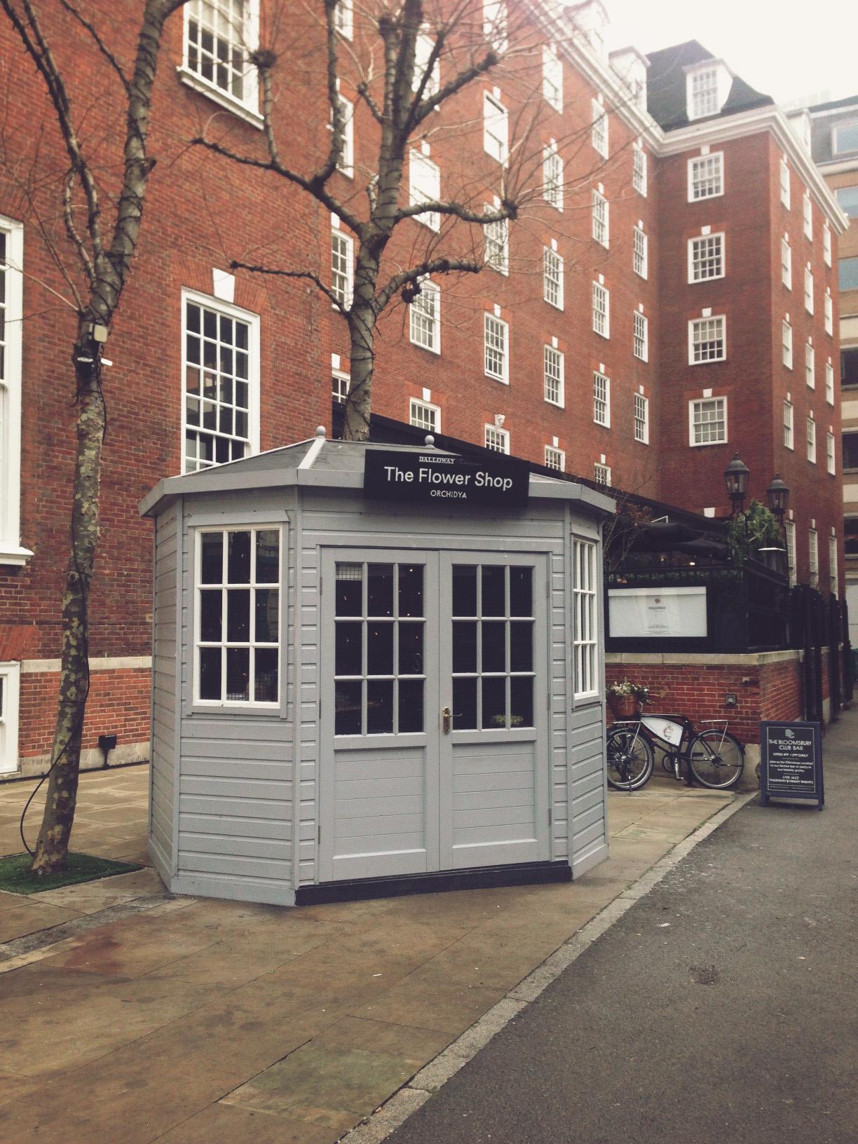 Little flower hut, London.