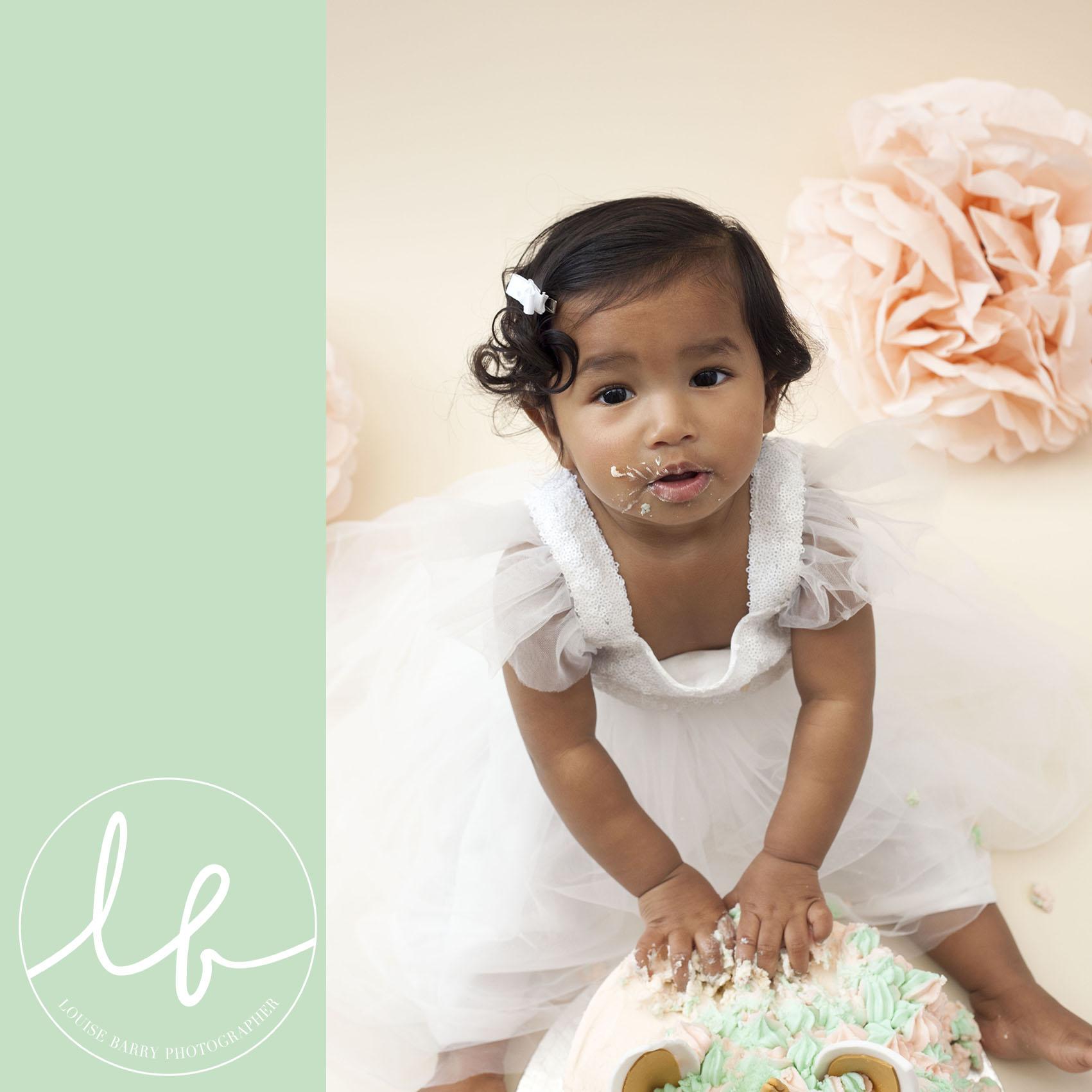 Louise Barry baby photography cake smash Leeds Huddersfield