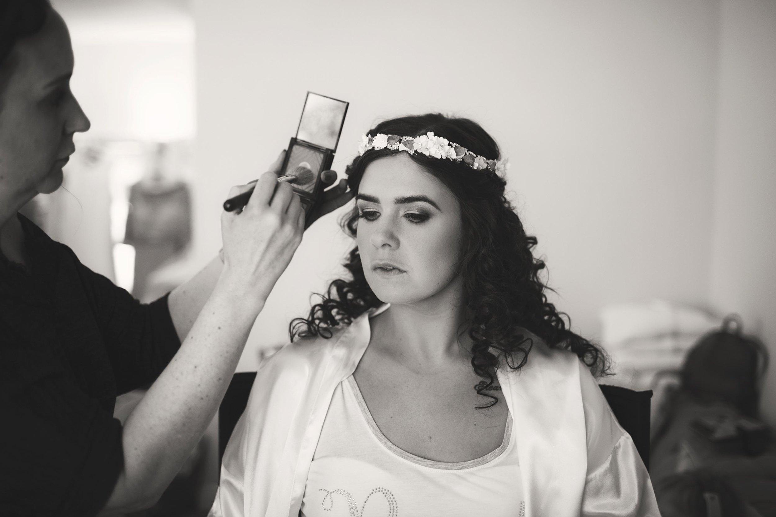 Leeds wedding photographer bridal prep professional makeup bride