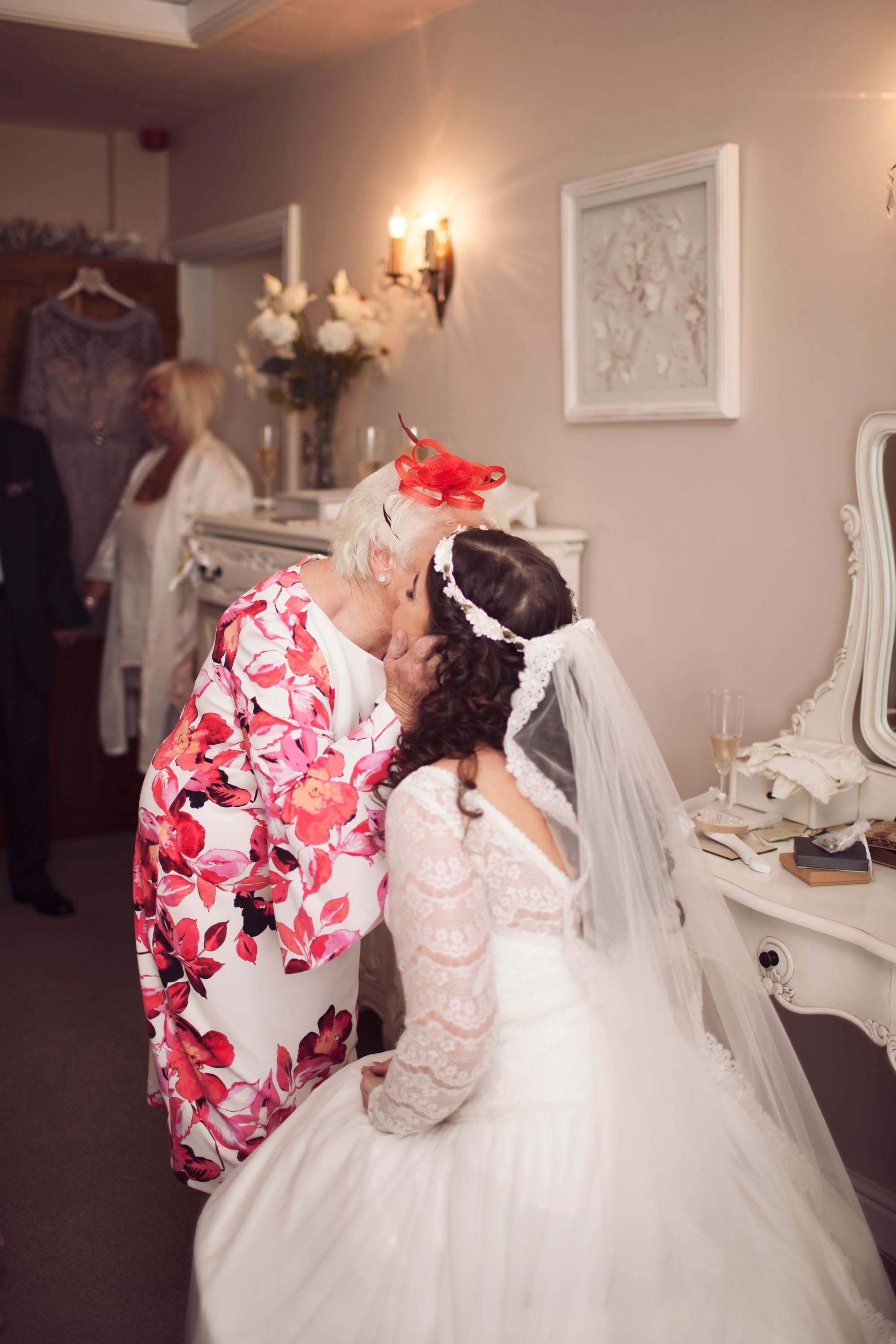 Cheshire wedding photographer bridal preview with grandparents crying
