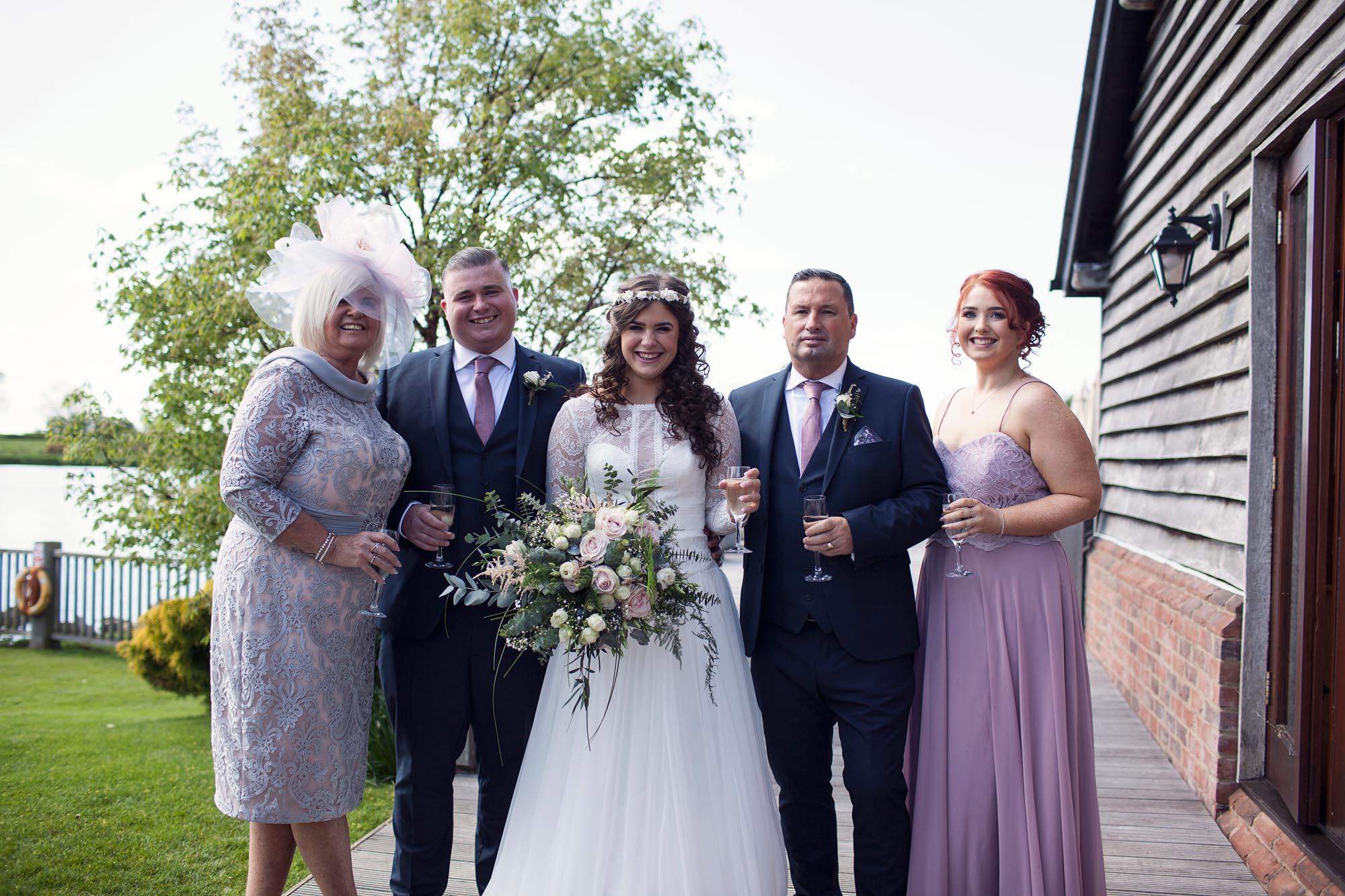 Wedding photography classic family photographer bride smiling