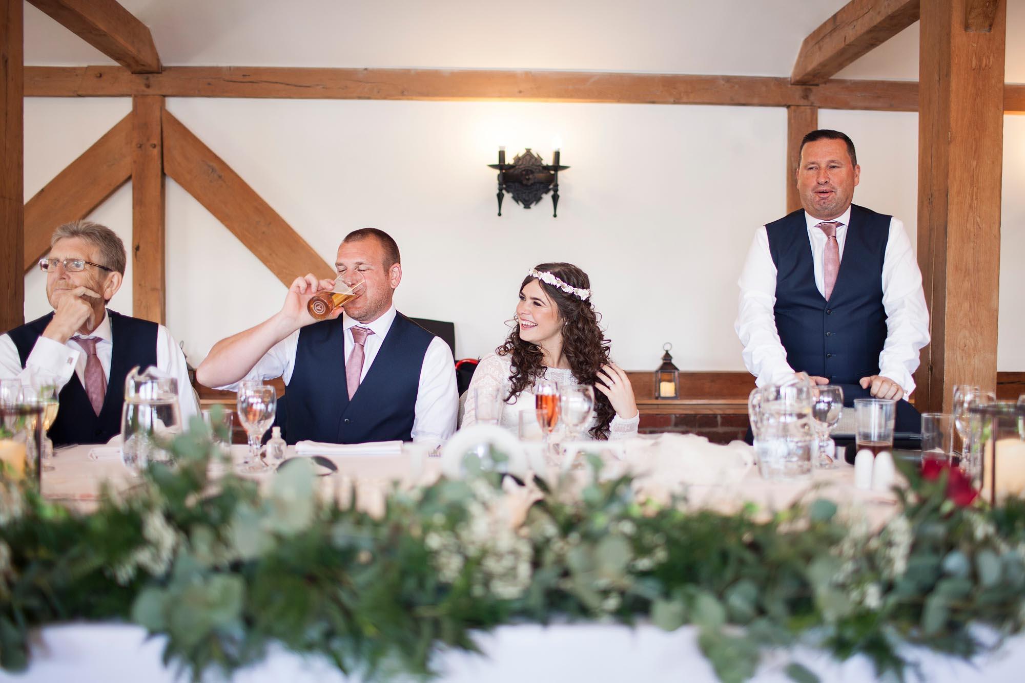 Wedding speech cheshire sandhole oak barn photographer