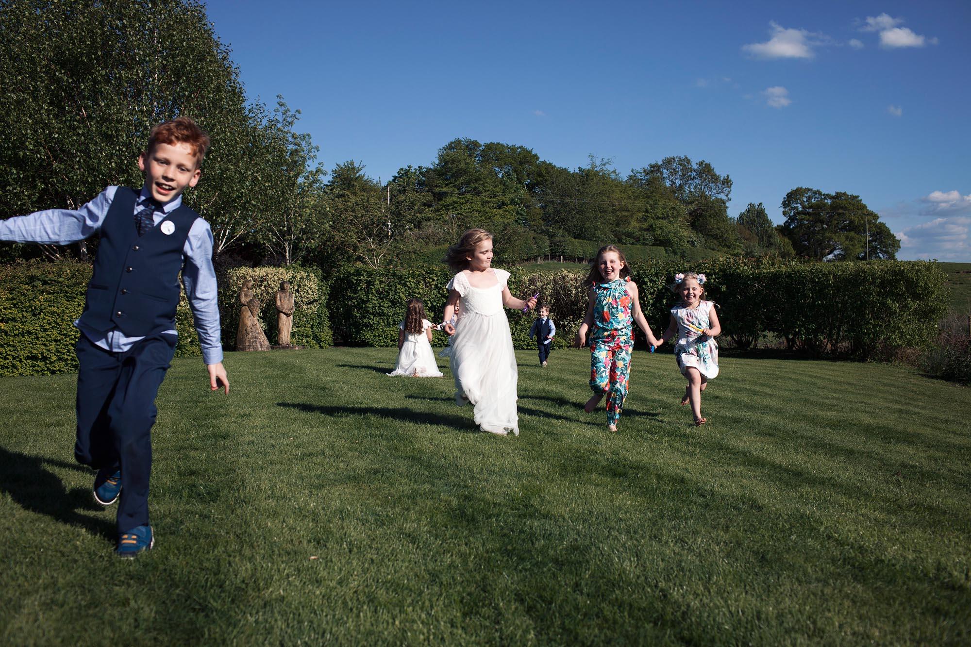 fun wedding photography in cheshire sandhole oak barn