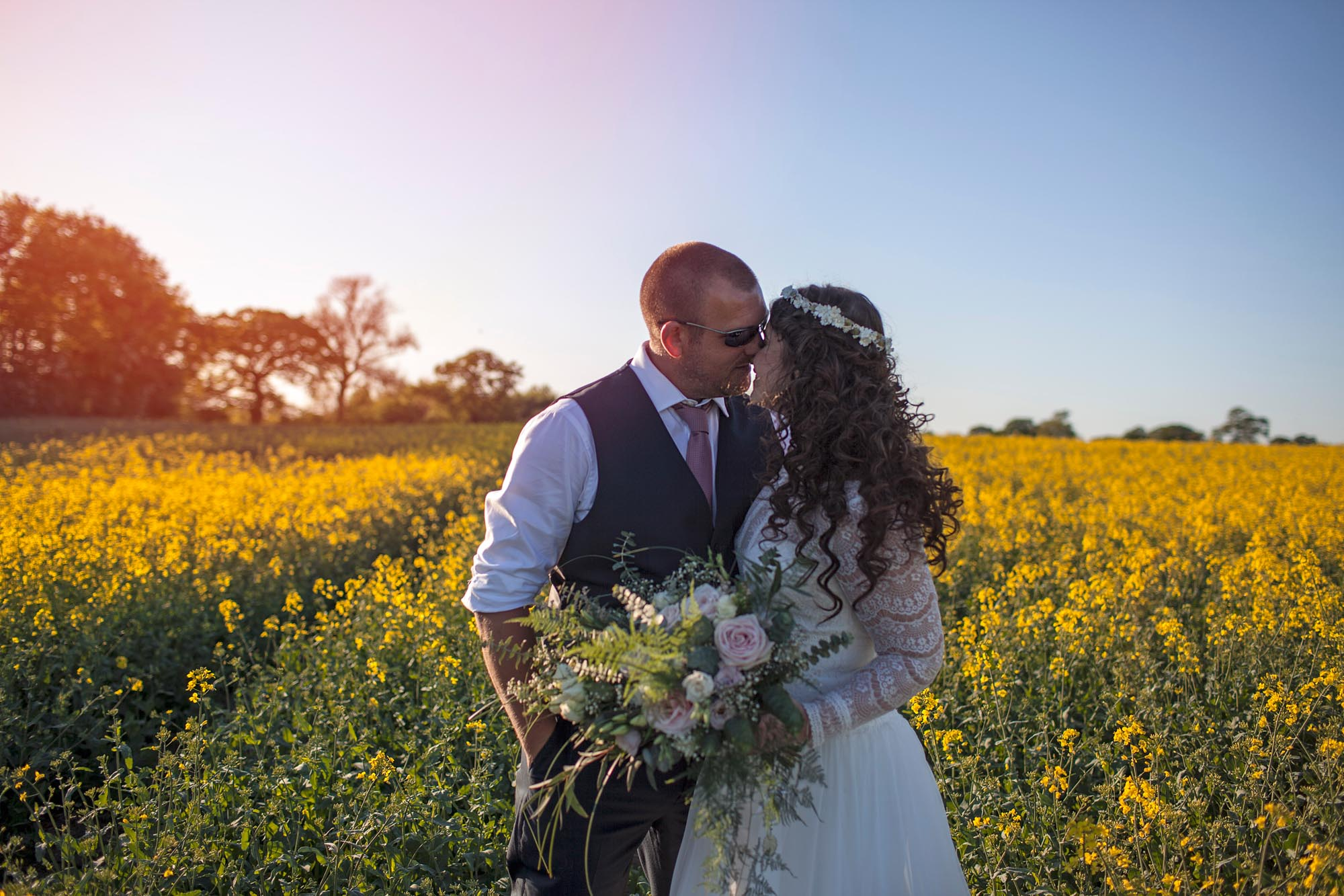 couple in love on they wedding day sunshine documentary photography cheshire leeds yorkshire