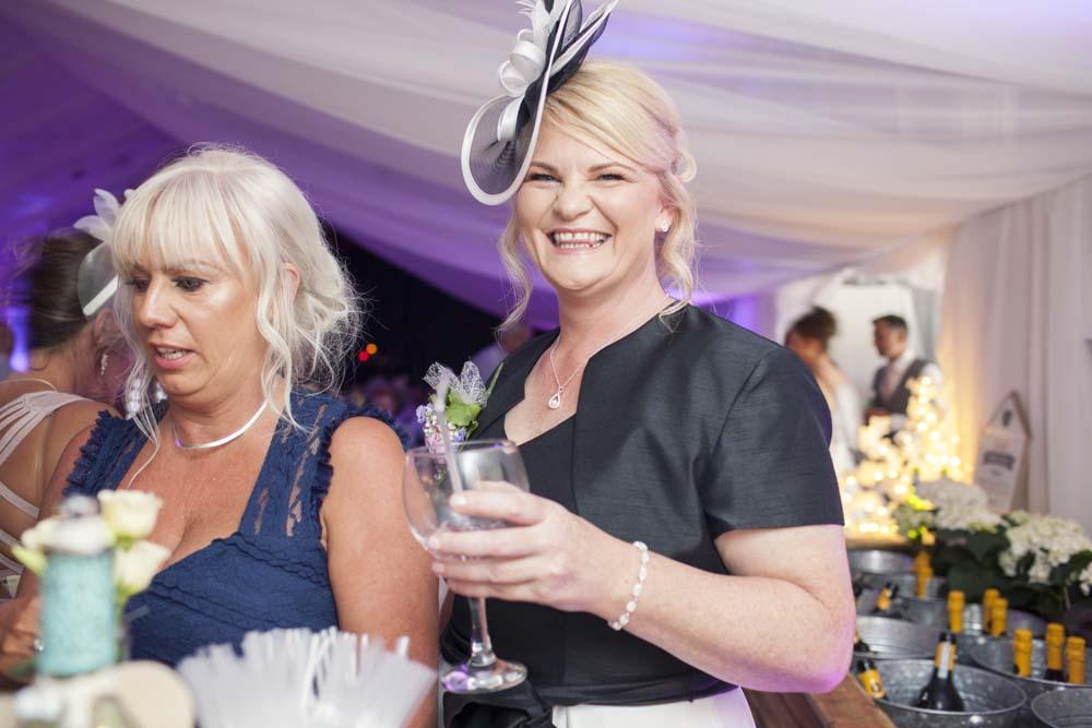 Aunty having fun at DIY wedding Preston Lancashire