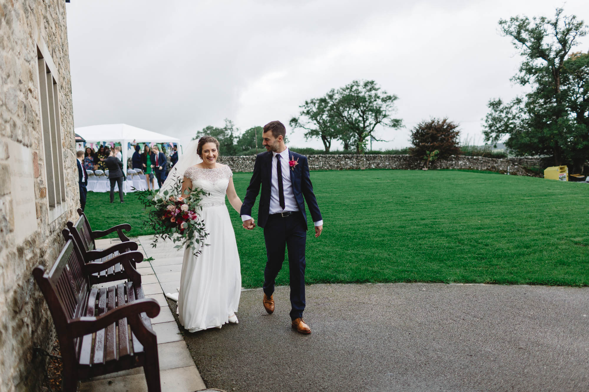 Photography from a North Yorkshire Wedding, Leeds, romantic, outdoor ceremony, DIY wedding, candid, relaxed fun photographer Huddersfield, newly married