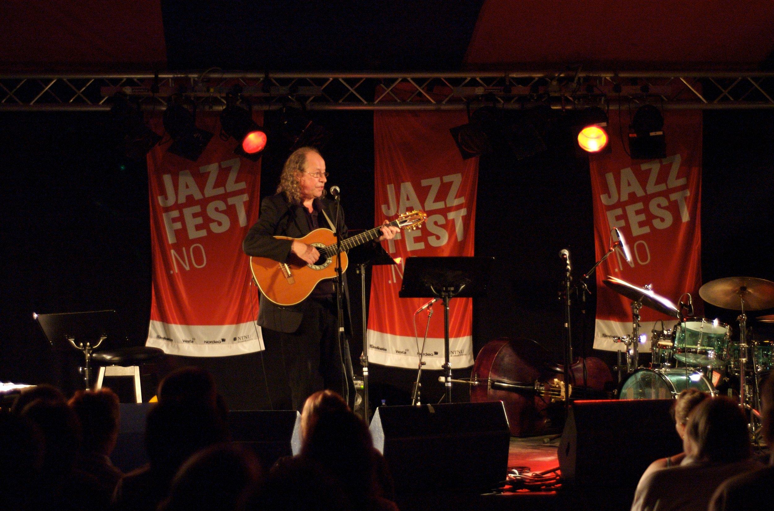 Terje Nilsen leverte en herlig konsert under åpningen av Jazzfest 2006.