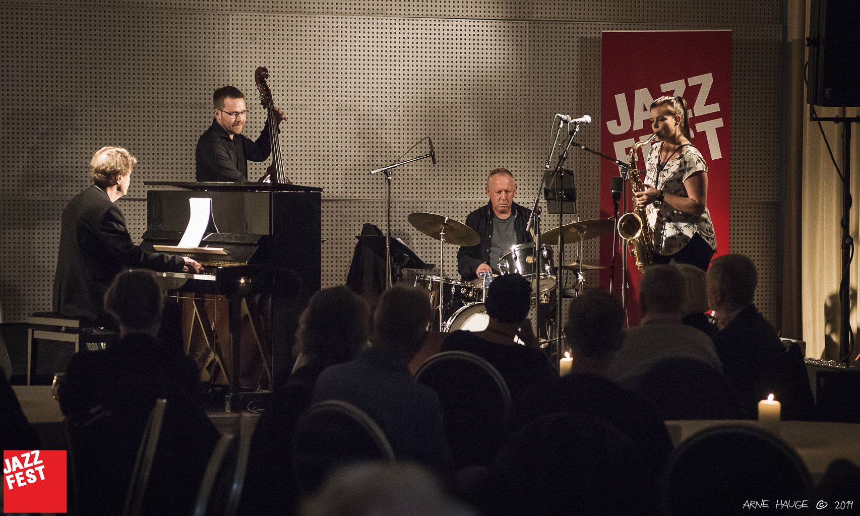 Trøen/Arnesen Kvartett på Scandic Nidelven. Foto: Arne Hauge