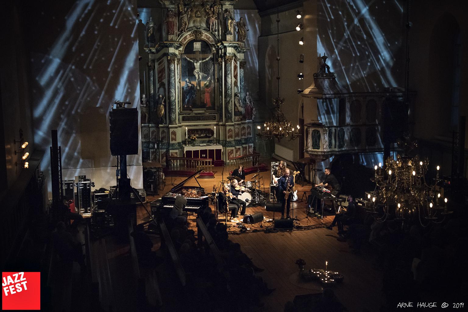 Karl Seglers WorldJazz i Vår Frue kirke. Foto: Arne Hauge