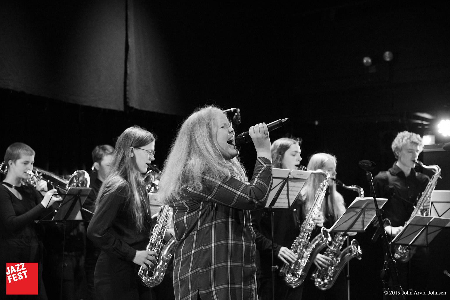 Trondheim Kommunale Kulturskoles Storband på Jazzfest Ung. Foto: John Arvid Johnsen