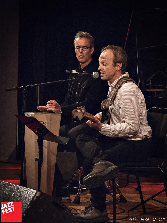 Trond Kopperud og Bjørn Klakegg på NTNU Jazzlinjas festkonsert på Dokkhuset. Foto: Arne Hauge