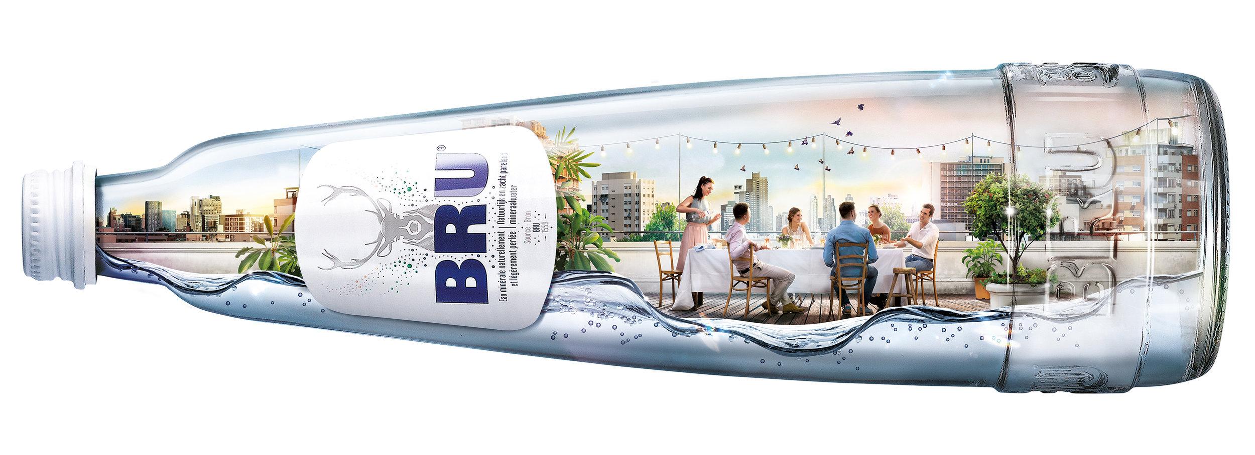 Bru bottle,