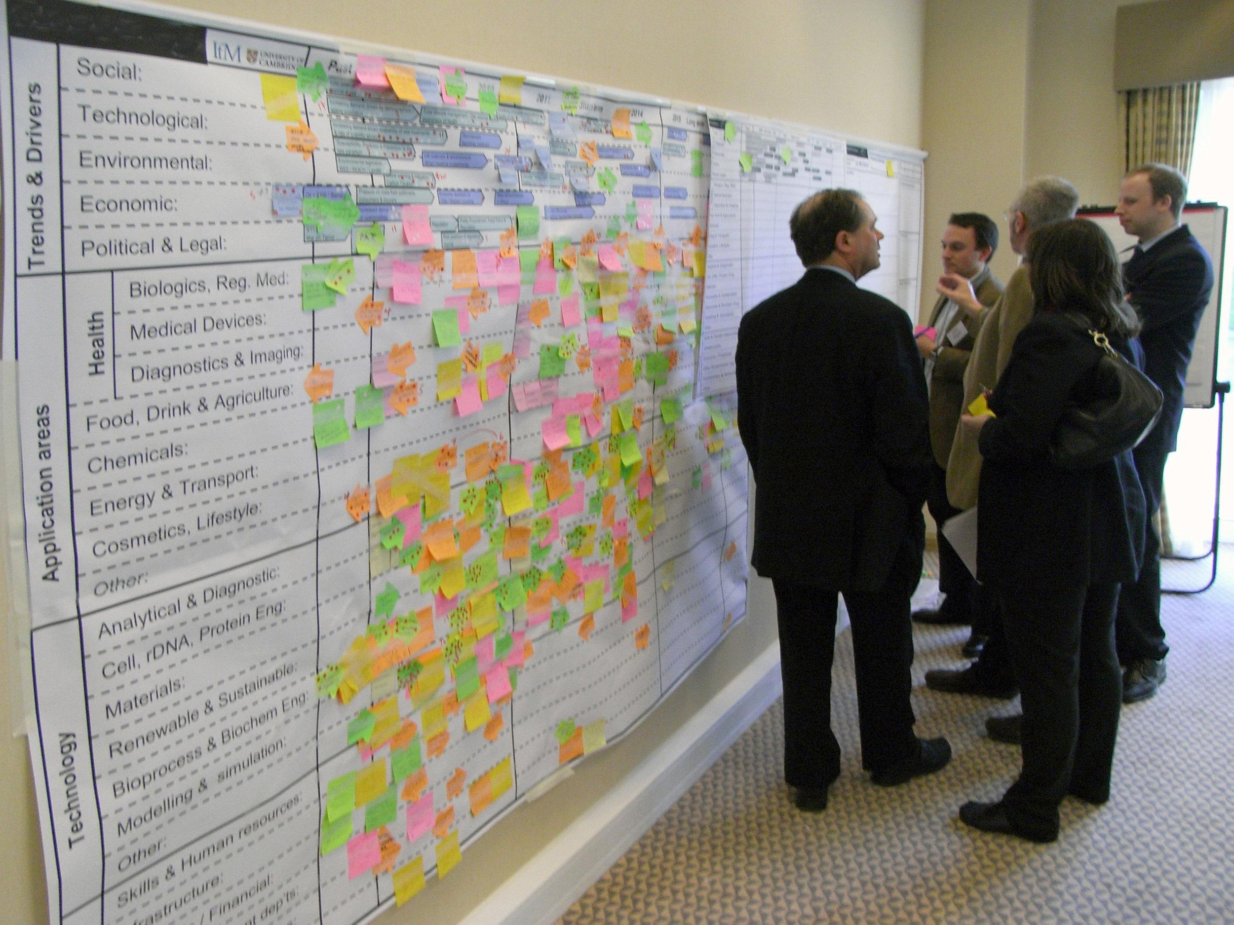Sector level roadmapping workshop, focusing on a key 'landmark' identified in the 'landscape'