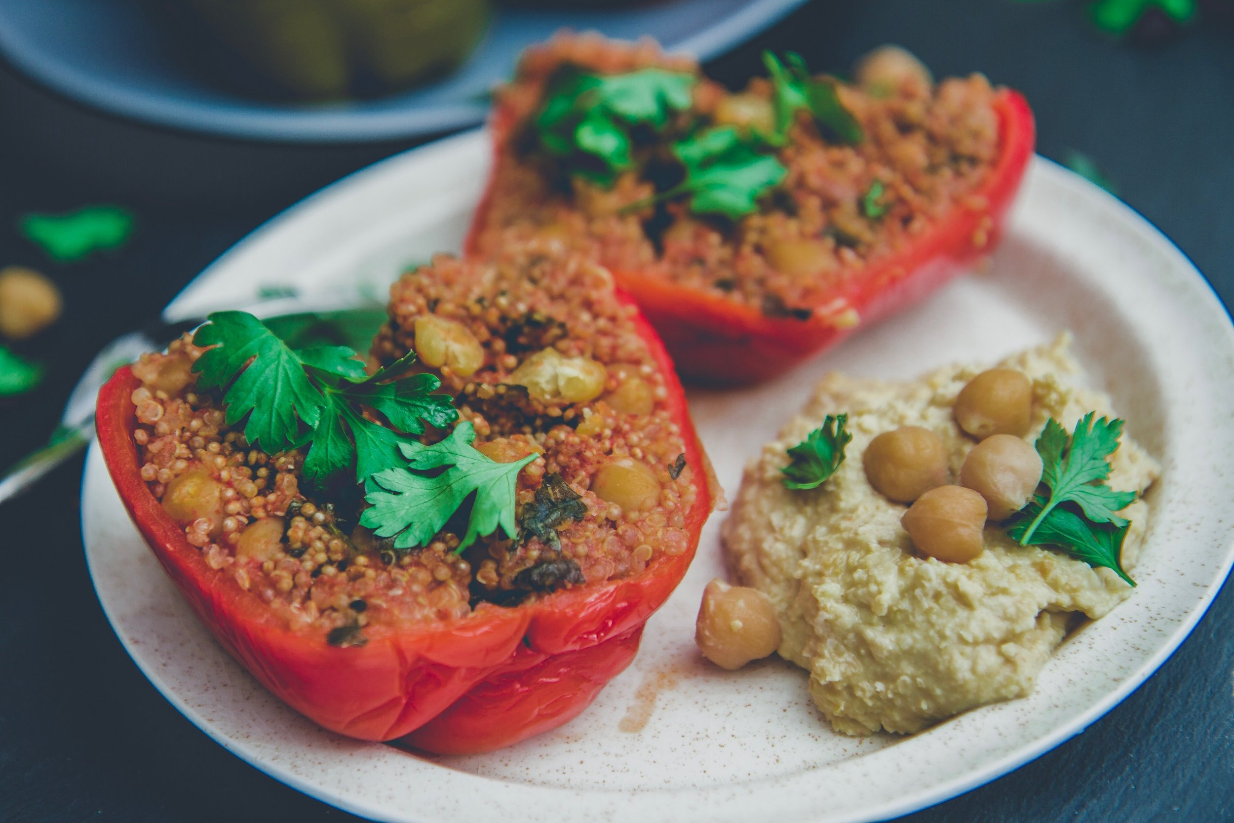 middle eastern stuffed bell peppers recipe vegan