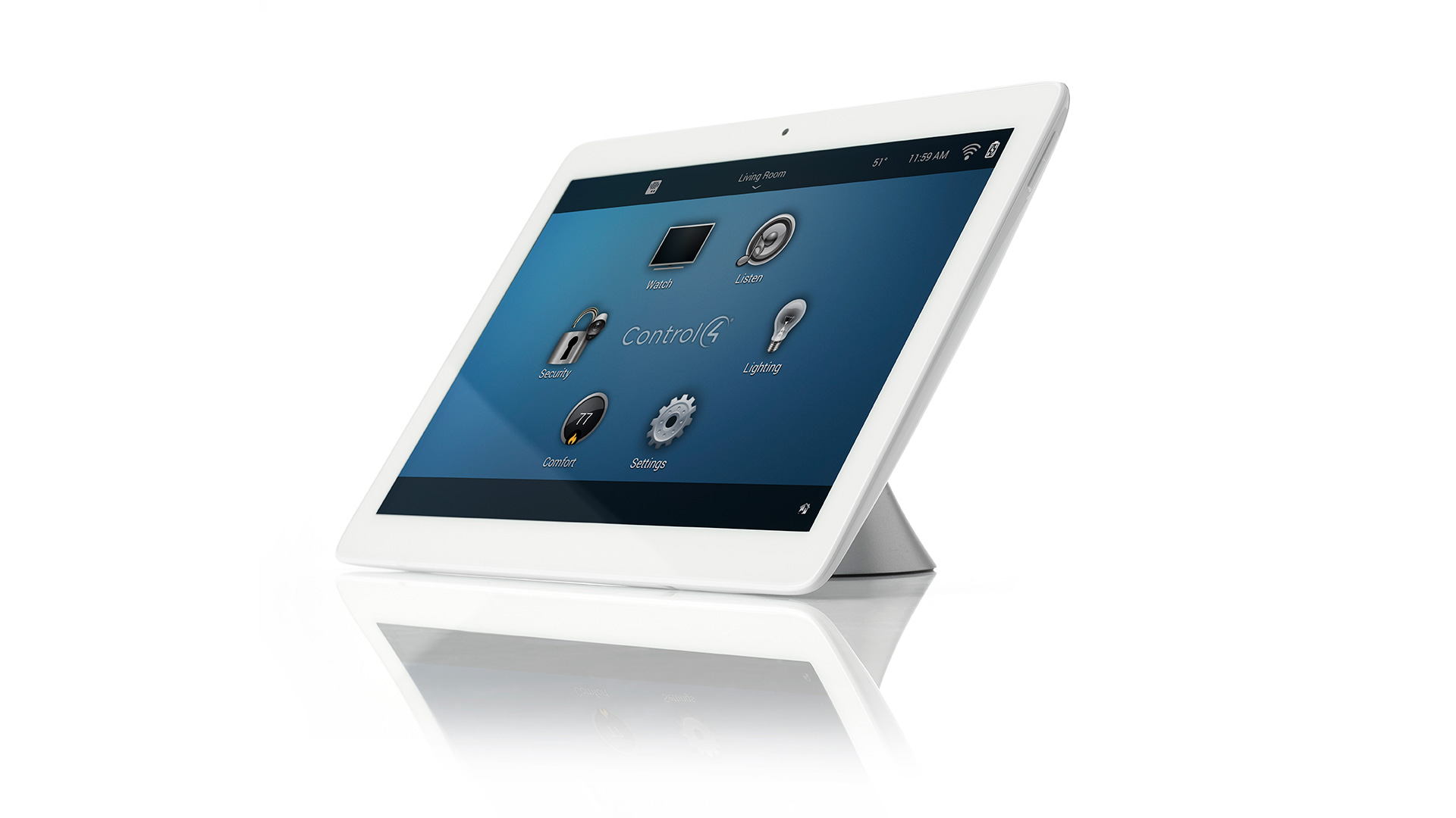 Control4 T3 Tabletop Touch Screen Control at Creative Audio in Winnipeg (White)