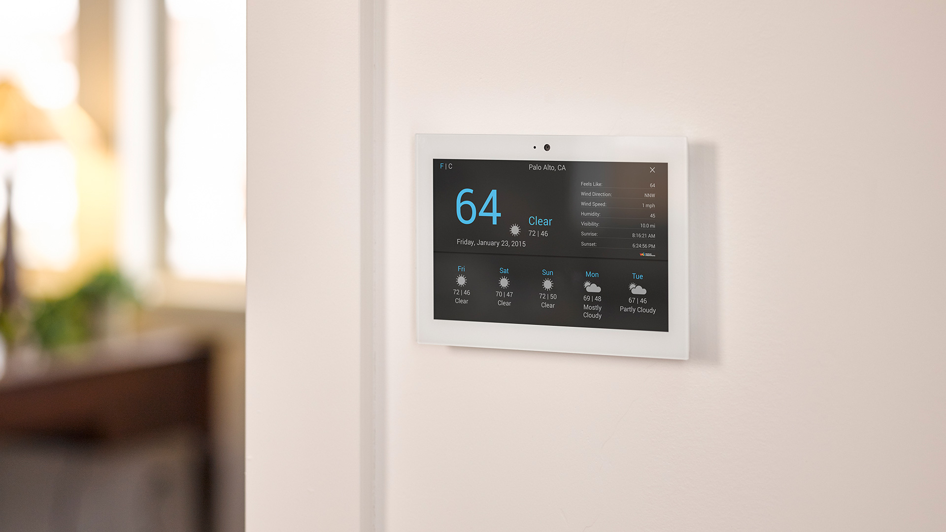 Control4 T3 In-Wall Touch Screen in Winnipeg at Creative Audio (Installed, White)